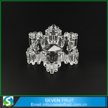 Snow flake design crystal glass tea light candle holders wholesale for christmas decoration