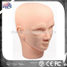 Permanent Tattoo Makeup 3D Practice Skin Mannequin Head With Inserts Cosmetic