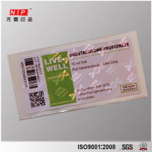 Customized optical Hologram sticker label printing with attractive appearance