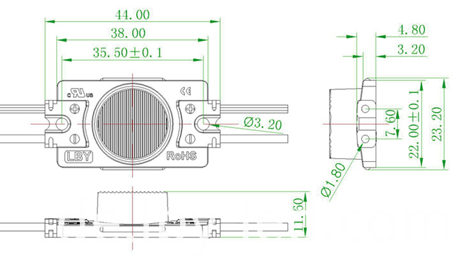 2.5W LED module for light box