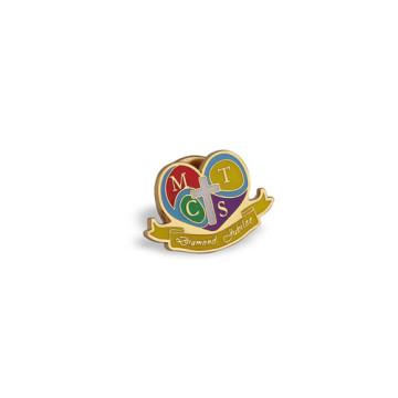 Pin de solapa de esmalte, insignia de forma de corazón (GZHY-LP-011)