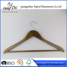 Wood Hanger For Clothes Display Luxury Wooden Hanger With Custom Logo