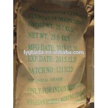 Fabricante de citrato de magnesio de calidad alimentaria