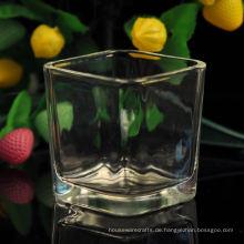 Quadratisches Kerzenglas