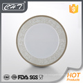 A011 heiße Verkauf Luxuxrhombusblumen-feine Knochen keramische Tellerplatte