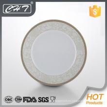 Placa de cena de cerámica caliente del hueso fino de la flor de la suerte de la venta A023
