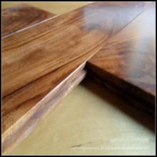 Revestimento de madeira folhosa da acácia pequena da folha / revestimento do parquet