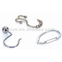 Metal chuveiro cortina trilho ganchos anéis