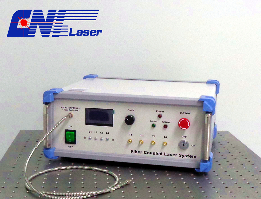 multi-wavelength fiber coupled laser system