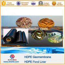 Forro impermeável da lagoa do HDPE do material para a fazenda do camarão dos peixes