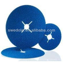 100 mm Zirkoniumdioxid Aluminiumoxid hochwertige Fiber Disc in China hergestellt