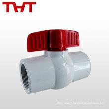 """Généralement utilisé 1/2 """"-4"""" eau Moyen en plastique mini robinet à boisseau sphérique"""