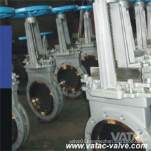 High Performance Cast Steel RF Flanged Knife Gate Valve