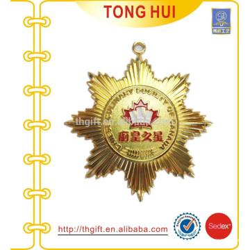 Souvenir Gold Culinary Society 3D award medallion