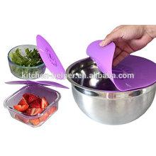 Four à micro-ondes / four à l'aide de la housse de protection en silicone à fleur de lave-vaisselle / Couvercle d'aspiration en silicone / Couvercle en silicone