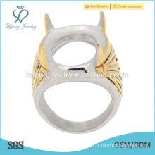 Top mais recente design 2015 na moda feito sob encomenda homens de aço inoxidável indonésia anel