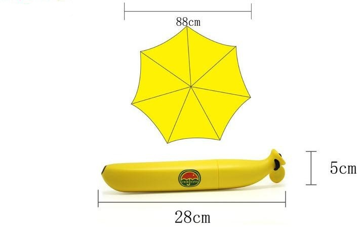 Latest design lovely banana cartoon printing kid umbrella02