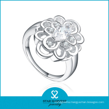 100% Handmade Girl′s 925 Sterling Silver Ring with CZ (R-0162)