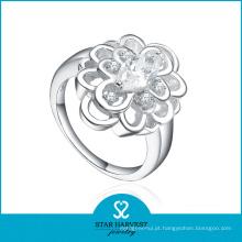 100% artesanal menina 925 anel de prata esterlina com cz (r-0162)