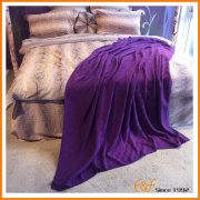 Pure Color Full Single Layer Thin Knitted Blanket