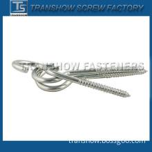 C1008 White Zinc Plated Hook Screw