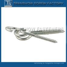 C1008 Tornillo de gancho chapado en zinc blanco
