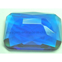 Fashionable Blue Cubic Zirconia Gemstone Beads