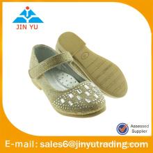 Chaussure de ballerine glitter à la mode avec des diamants