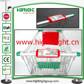 Placa de publicidade de identificador de carrinho de compras