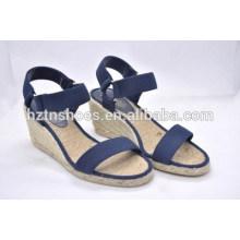 Novo design sapatos sandálias originais confortável ar ambiental cunha peep-toe lazer grande jardas sandálias