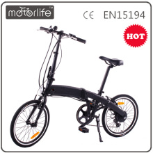Motorlife 20 Inch tire cheap folding ebike, fast folding electric City bike