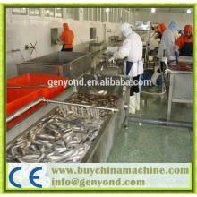 Maquinaria de procesamiento de pescado en conserva automático completo