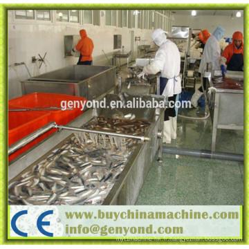 Machines de traitement du poisson en conserve complètement automatique