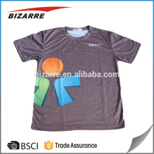 100% polyester quick dry sublimation t-shirt