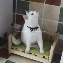 Cama para mascotas impermeable de madera maciza ecológica