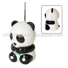 Cartoon Radio In Panda Design