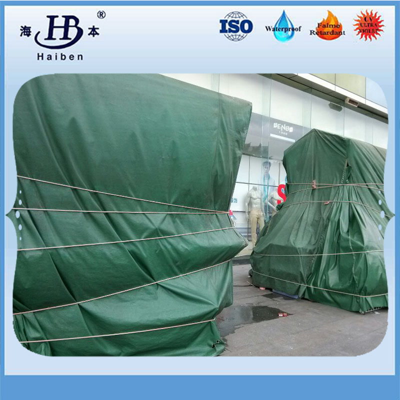 High strength finished pvc tarpaulin sheets minerals usage
