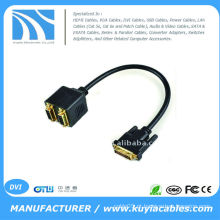 1 DVI Masculino para 2 Female Converter Adapter Splitter