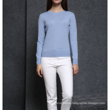17PKCS484 2017 knit wool cashmere knitted lady sweater