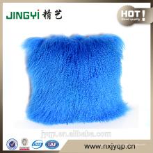 Wholesale véritable oreiller tibétain mongol en peau de mouton