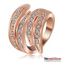 Dernier anneau d'aile d'or rose d'or pour les filles (Ri-HQ0063)