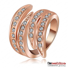 Latest Rose Gold Angel Wing Ring for Girls (Ri-HQ0063)