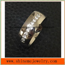 Shineme Jewelry High Quality 9 Stones Titanium Jewelry Ring (TR1871)