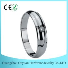 4MM Best Selling Silver Mens Wedding Rings, Comfort Fit Tungsten Women Ring, Cz Stone Jewelry