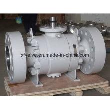 Válvula de esfera com extremidade de flange A105 / F304 de alta pressão