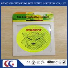 Cadeau promotionnel Smile Face PVC autocollant réfléchissant