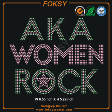 AKA WOMEN ROCK rembourrage en strass