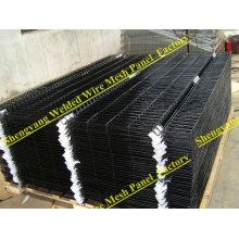fil de clôture de soudure enduit de vinyle noir (Made in China Shengyang)