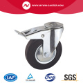 Braked Bolt Hole Swivel Rubber Industrial Caster