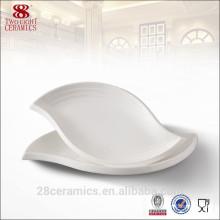 Wholesale unique restaurant dinnerware, leaf shaped salad plate, stone serving plate